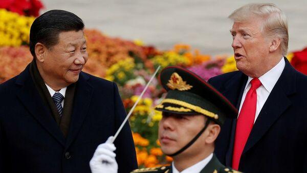 Çin Devlet Başkanı Şi Cinping ve ABD Başkanı Donald Trump - Sputnik Türkiye