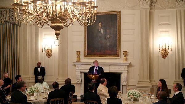 ABD Başkanı Donald Trump, Ramazan ayı dolayısıyla Beyaz Saray'da iftar yemeği verdi. - Sputnik Türkiye