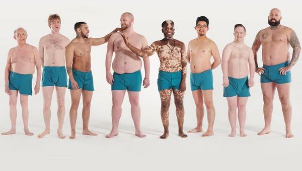 Erkeklerden beden olumlama kampanyası - Sputnik Türkiye