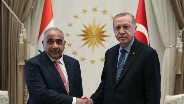 Cumhurbaşkanı Recep Tayyip Erdoğan - Irak Başbakanı Adil Abdulmehdi  - Sputnik Türkiye