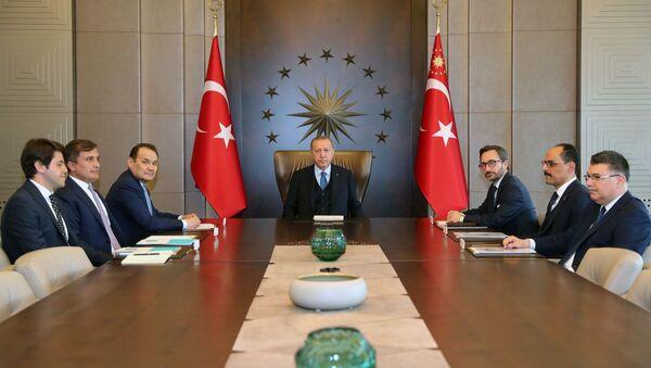 Cumhurbaşkanı Erdoğan, Türk Konseyi Genel Sekreteri Amreyev ile bir araya geldi - Sputnik Türkiye