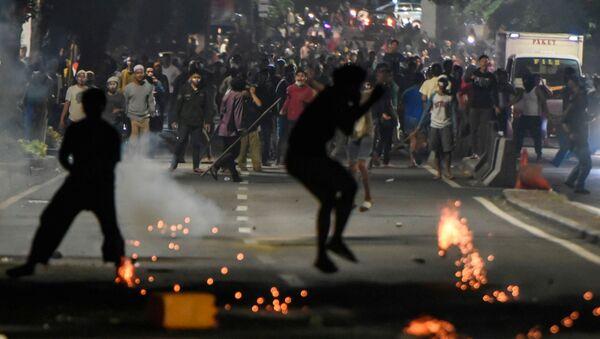 Endonezya seçim protestoları - Sputnik Türkiye