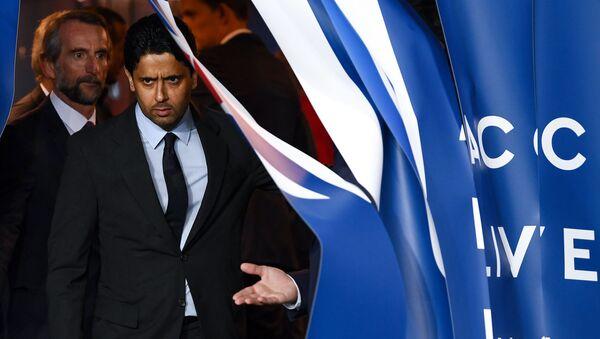 Paris Saint-Germain (PSG) futbol kulübünün Katarlı başkanı Nasser El Khelaifi  - Sputnik Türkiye
