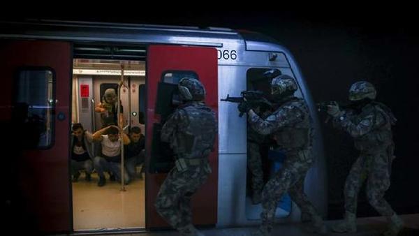 Ankara metrosunda tatbikat - Sputnik Türkiye