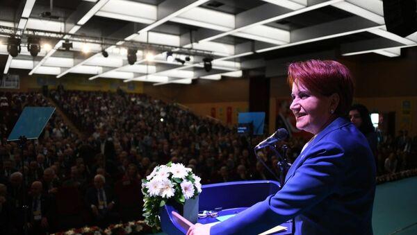 İYİ Parti'nin 3. Olağanüstü Kurultayı - Genel Başkan Meral Akşener - Sputnik Türkiye