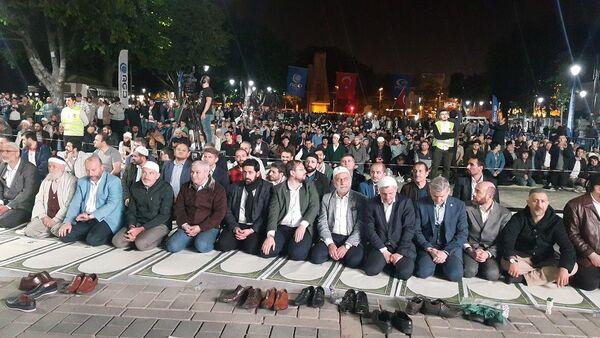 Anadolu Gençlik Derneği, Ayasofya Müzesi, namaz - Sputnik Türkiye