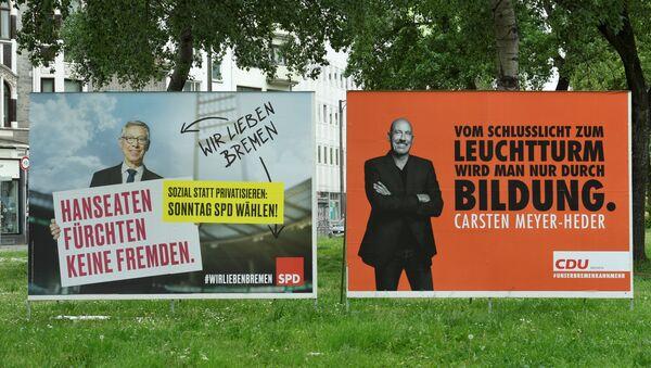 Almanya Avrupa Parlamentosu seçimleri CDU-SPD - Sputnik Türkiye