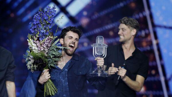 Hollanda, Duncan Laurence'ın seslendirdiği Arcade şarkısı ile bu yıl Eurovision'u kazandı. - Sputnik Türkiye