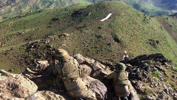 Türk Silahlı Kuvvetleri tarafından Irak'ın kuzeyindeki Hakurk bölgesinde PKK''lıların bulunduğu alanlara yönelik harekat başlatıldı. Kara Kuvvetleri topçu bataryaları ve Hava Kuvvetleri Komutanlığına bağlı jetlerin atışlarıyla başlayan harekata komando tugayları da katıldı. - Sputnik Türkiye