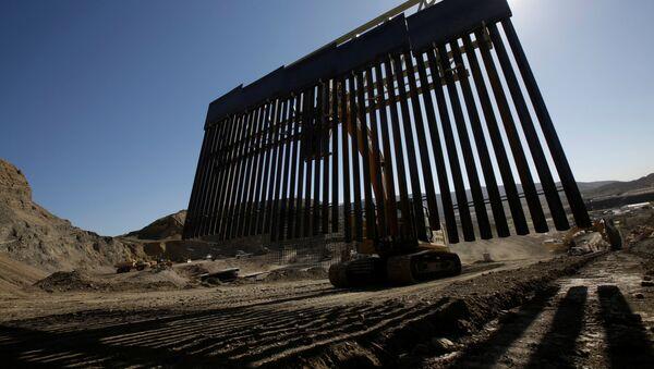 ABD-Meksika sınırına inşa edilen özel duvar - Sputnik Türkiye