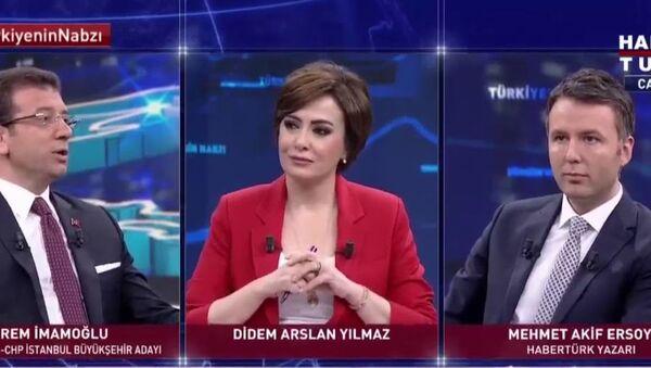 İmamoğlu'nun montajlanan konuşmasında soruyu soran gazeteciden açıklama - Sputnik Türkiye