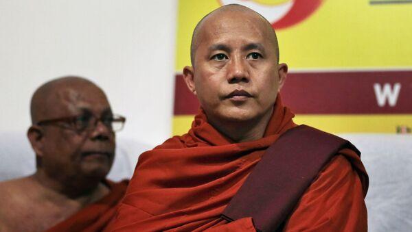 Myanmar İslam karşıtı radikal Budist rahip Ashin Wirathu - Sputnik Türkiye
