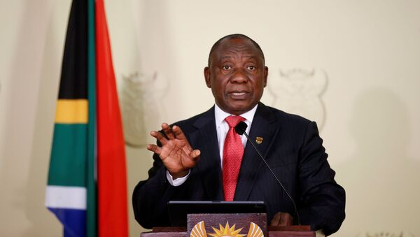 Güney Afrika Cumhuriyeti'nde devlet başkanı seçilen Cyril Ramaphosa - Sputnik Türkiye