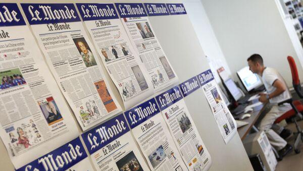 Fransa Le Monde basın - Sputnik Türkiye