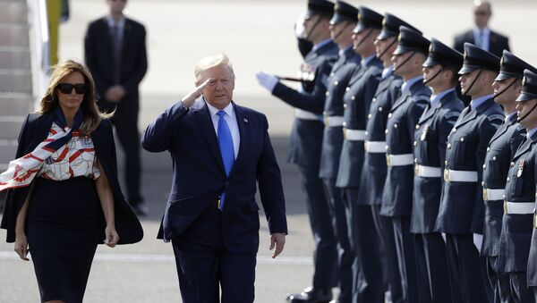 ABD Başkanı Donald Trump İngiltere'de - Sputnik Türkiye