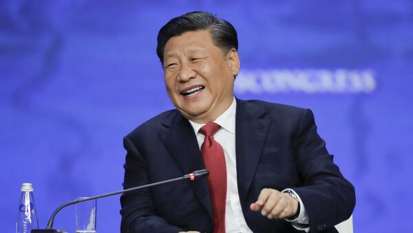Çin Devlet Başkanı Şi Cinping, St. Petersburg Uluslararası Ekonomi ForumuSPIEF 2019'a katıldı. - Sputnik Türkiye