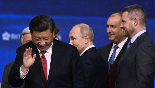 Çin Devlet Başkanı Şi Cinping, St. Petersburg Uluslararası Ekonomi Forumu - Sputnik Türkiye