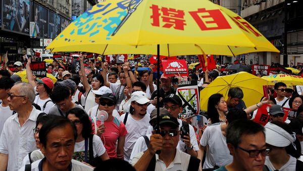 Hong Kong, protesto - Sputnik Türkiye