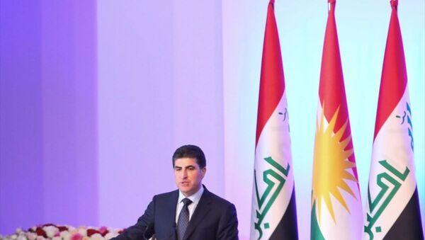 Irak Kürt Bölgesel Yönetimi Başkanı olarak seçilen Neçirvan Barzani'nin yemin töreni - Sputnik Türkiye