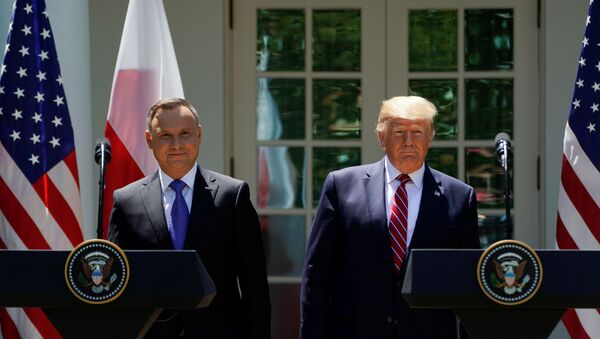 Trump - Duda görüşmesi - Sputnik Türkiye