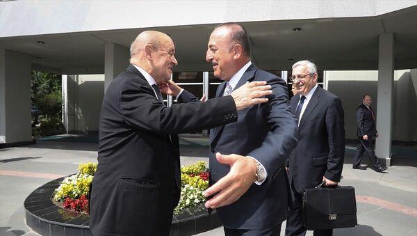 Mevlüt Çavuşoğlu - Jean-Yves Le Drian - Sputnik Türkiye