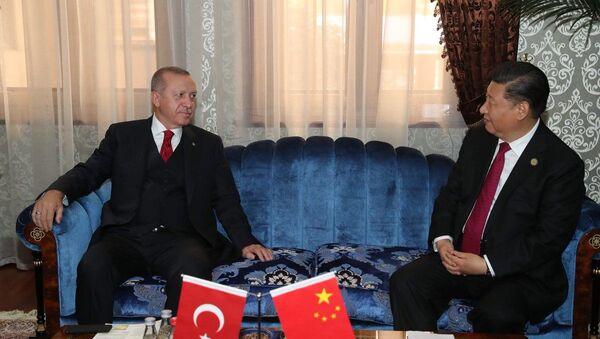 Çin Devlet Başkanı Şi Cinping, Cumhurbaşkanı Recep Tayyip Erdoğan - Sputnik Türkiye