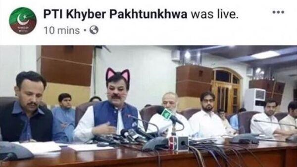Pakistanlı bakanın kedi kulaklarıyla olan görüntüleri sosyal medyaya yansıdı - Sputnik Türkiye