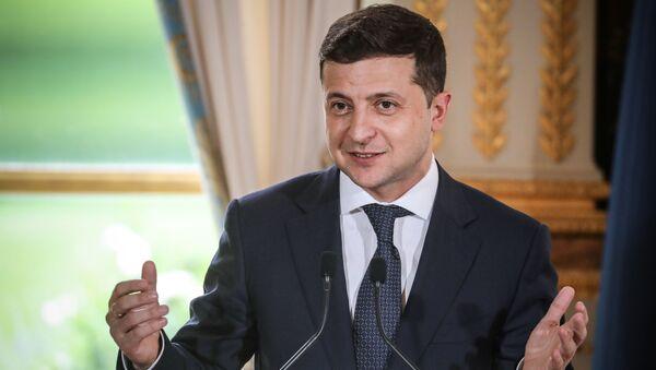 Ukrayna Devlet Başkanı Vladimir Zelenskiy, Paris - Sputnik Türkiye