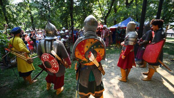 'Zamanlar ve Devirler' festivalindeki Osmanlı İmparatorluğu alanından bir kare - Sputnik Türkiye