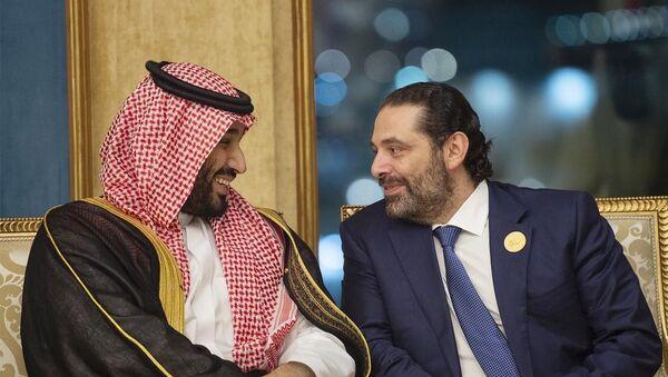 Suudi Arabistanlı Veliaht Prens Muhammed bin Selman ve Lübnan Başbakanı Saad el Hariri - Sputnik Türkiye