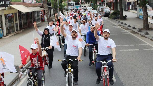 Gençler, Yıldırım için pedal çevirdi: Kankamızı İstanbul gençliği hak ettiği yere getirecektir - Sputnik Türkiye