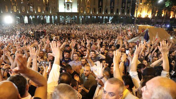 Gürcistan, protesto - Sputnik Türkiye