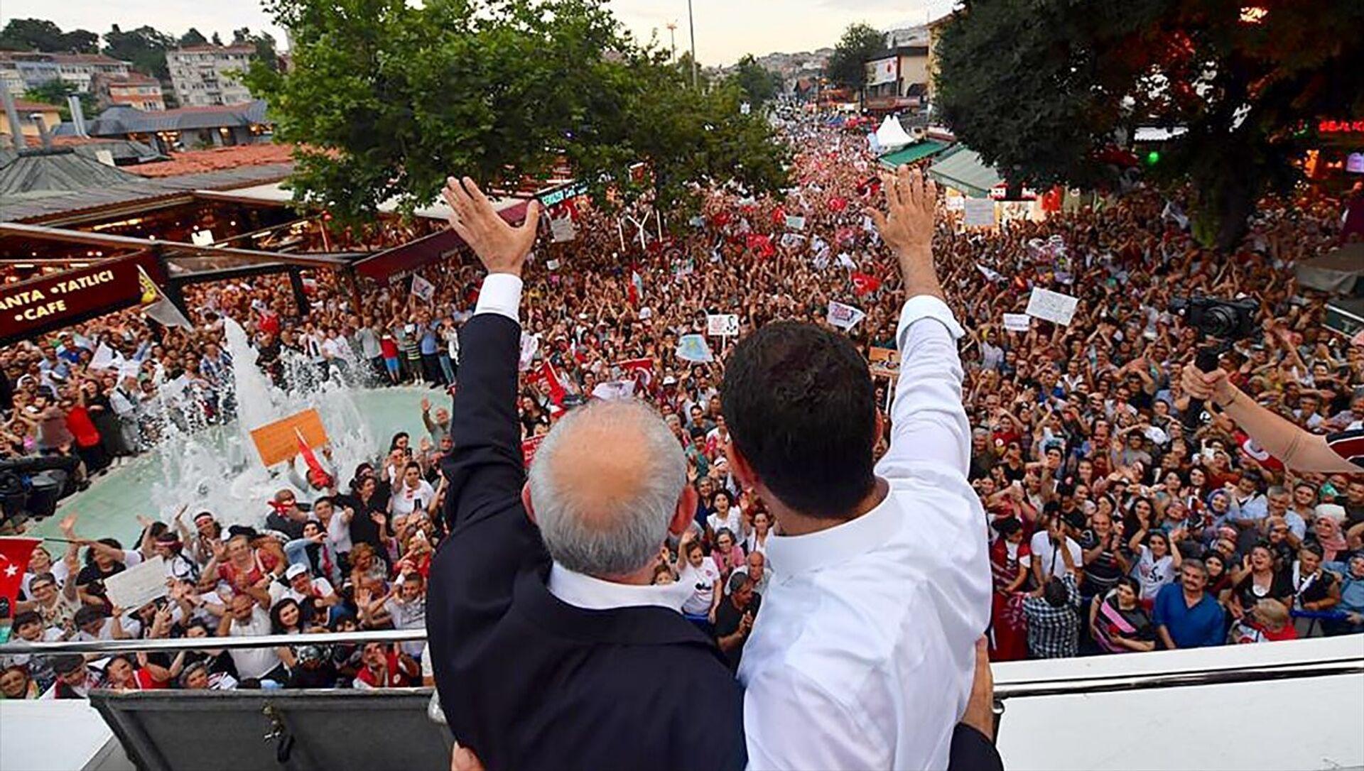 CHP Genel Başkanı Kemal Kılıçdaroğlu ile CHP İstanbul Büyükşehir Belediye Başkan Adayı Ekrem İmamoğlu  - Sputnik Türkiye, 1920, 16.04.2021