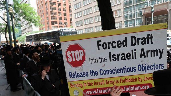 Ortodoks Yahudiler, New York, askerlik, protesto - Sputnik Türkiye
