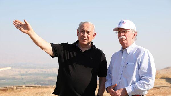 Bolton, Netanyahu, Ürdün Vadisi - Sputnik Türkiye