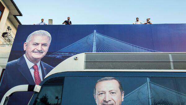 Binali Yıldırım- Recep Tayyip Erdoğan - Sputnik Türkiye