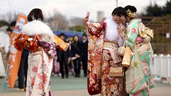 Japonya kimono - Sputnik Türkiye