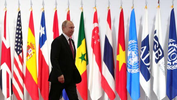 Rusya Devlet Başkanı Vladimir Putin-Japonya Osaka G20 Zirvesi - Sputnik Türkiye