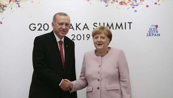 Türkiye Cumhurbaşkanı Recep Tayyip Erdoğan ve Almanya Başbakanı Angela Merkel - Sputnik Türkiye