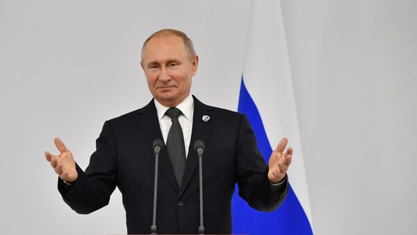 Vladimir Putin G20 zirvesinde basın toplantısında - Sputnik Türkiye