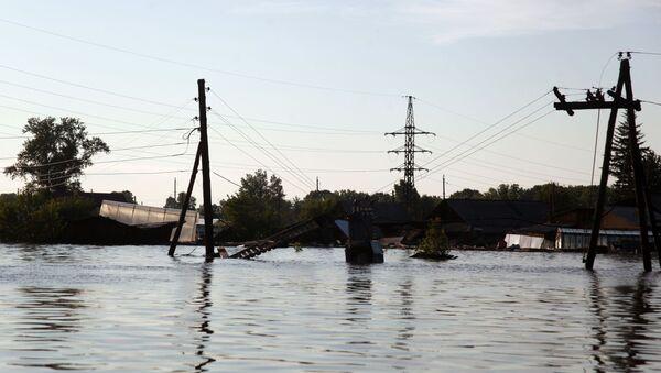 Rusya'nın İrkutsk bölgesindeki sel felaketi - Sputnik Türkiye