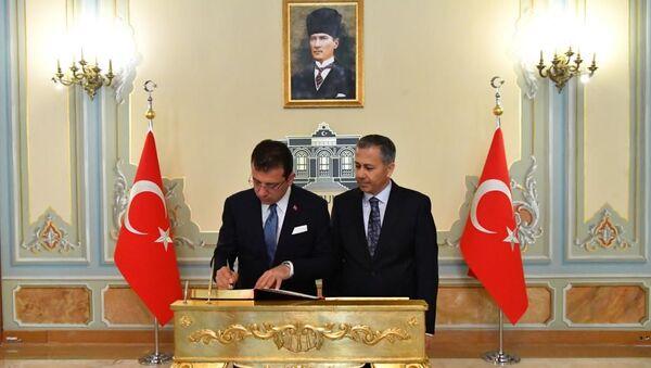 Ekrem İmamoğlu - Ali Yerlikaya - Sputnik Türkiye