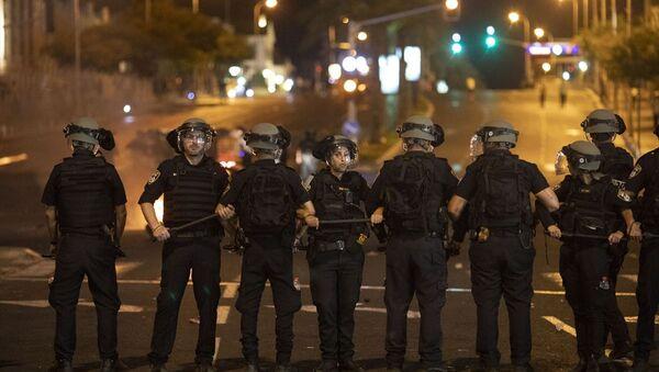 İsrail polisleri, bölgede önlemler aldı. - Sputnik Türkiye