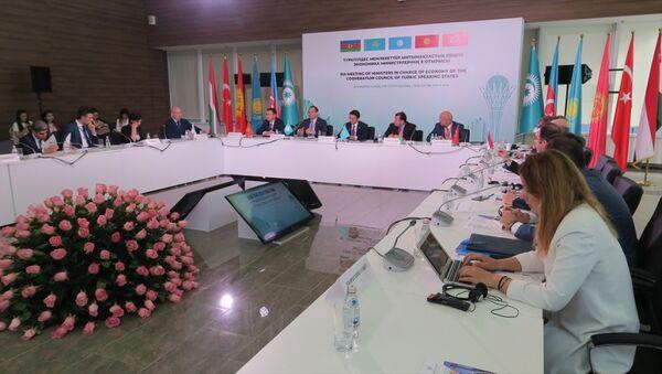 Türk Dili Konuşan Ülkeler İşbirliği Konseyi Ekonomiden Sorumlu Bakanlar 9. Toplantısı-Kazakistan - Sputnik Türkiye