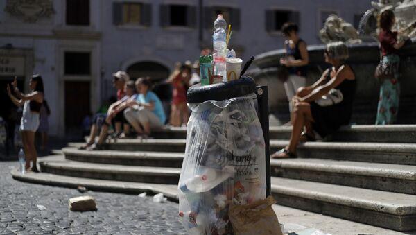 İtalya'nın başkenti Roma'da çöp krizi - Sputnik Türkiye