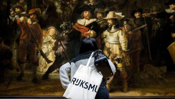Rembrandt'ın 'Gece Devriyesi' tablosu  - Sputnik Türkiye