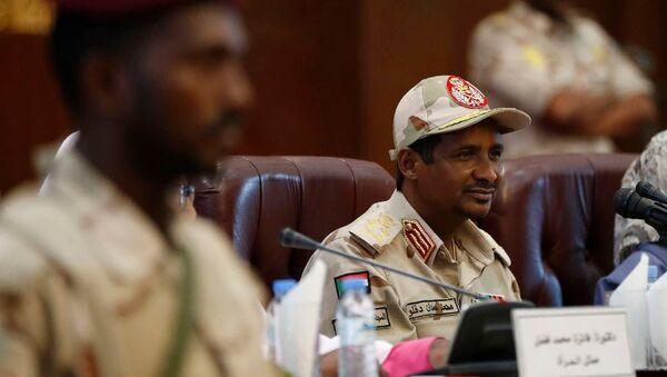 Sudan Askeri Geçiş Konseyi Başkan Yardımcısı Orgeneral Muhammed Hamdan Daklu Hmidti - Sputnik Türkiye