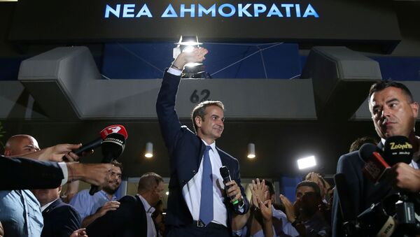 Yunanistan'da erken genel seçim sonucunda merkez sağ Yeni Demokrasi Partisi (ND), tek başına iktidara gelecek çoğunluğu elde etti.  - Sputnik Türkiye
