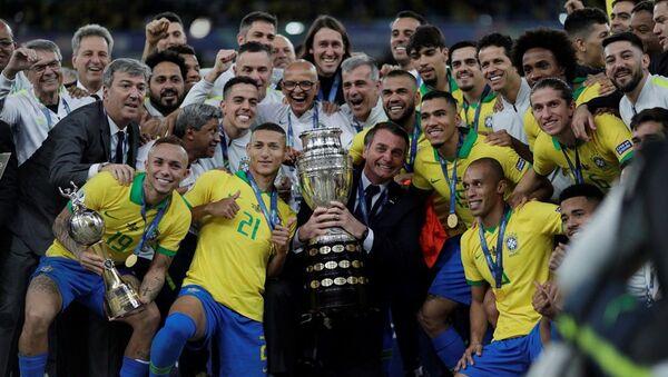 Kupa Amerika'da şampiyon Brezilya - Sputnik Türkiye