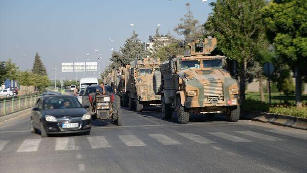 Suriye sınırına askeri sevkiyat - Sputnik Türkiye